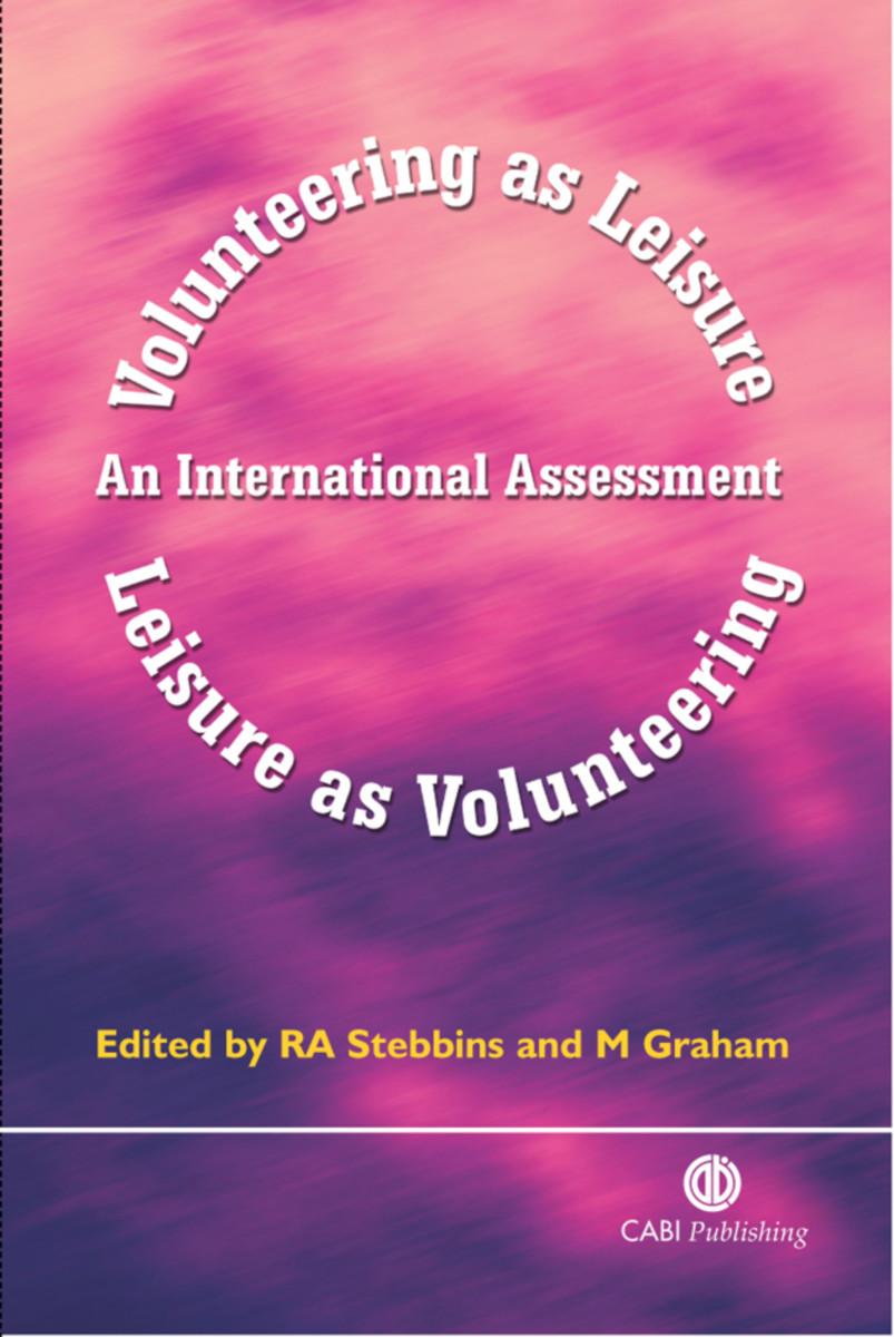 Volunteering as Leisure/Leisure as Volunteering