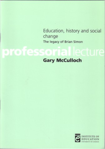 Education, History and Social Change