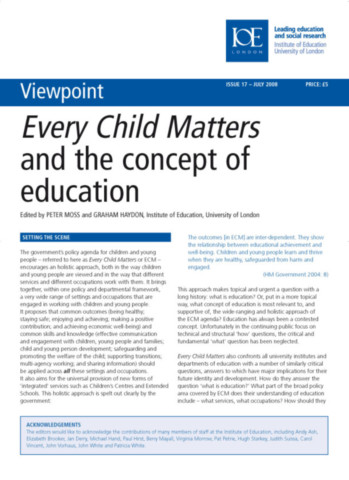 Every Child Matters and the Concept of Education