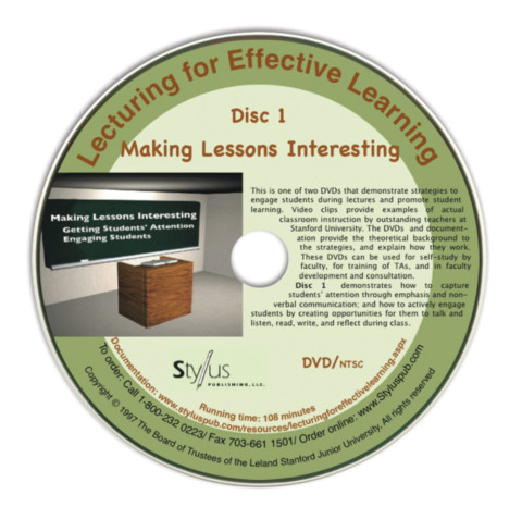 Lecturing for Effective Learning Disc One