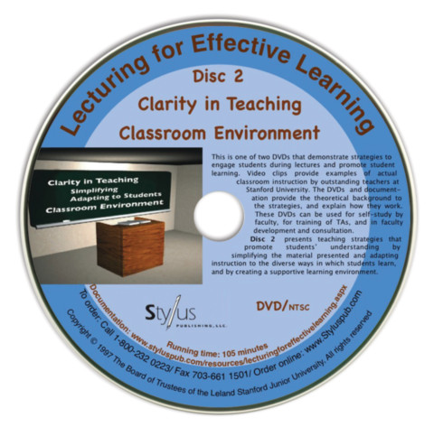 Lecturing for Effective Learning Disc Two