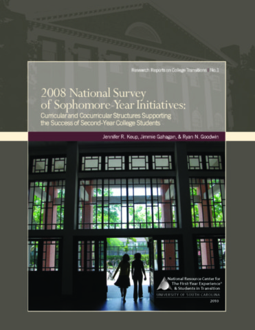 2008 National Survey of Sophomore-Year Initiatives