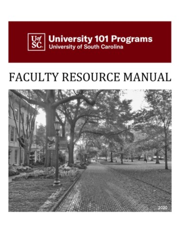 The University 101 Faculty Resource Manual, 2020