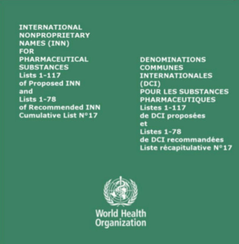 International Nonproprietary Names (INN) for Pharmaceutical Substances CD-ROM