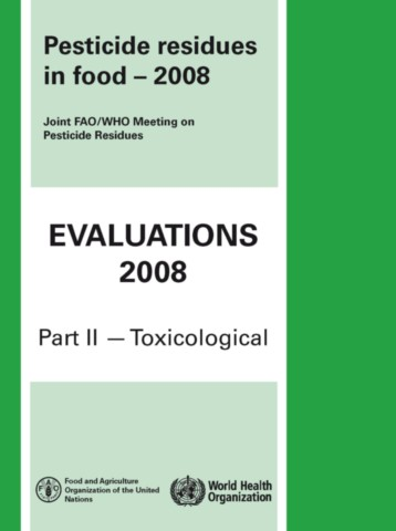 Pesticide Residues in Food 2008