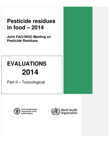 Pesticide Residues in Food