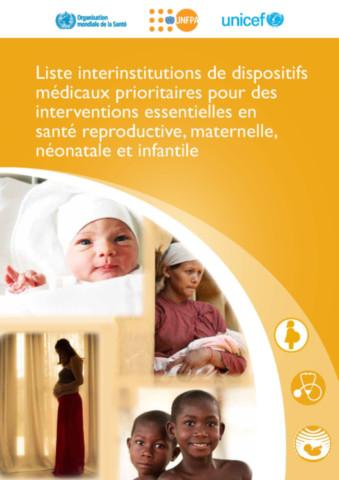 Liste interinstitutions de dispositifs médicaux prioritaires pour des interventions essentielles