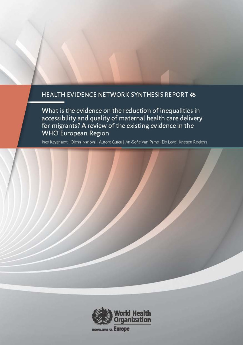 What is the evidence on the reduction of inequalities in accessibility and quality of maternal health care delivery for migrants?