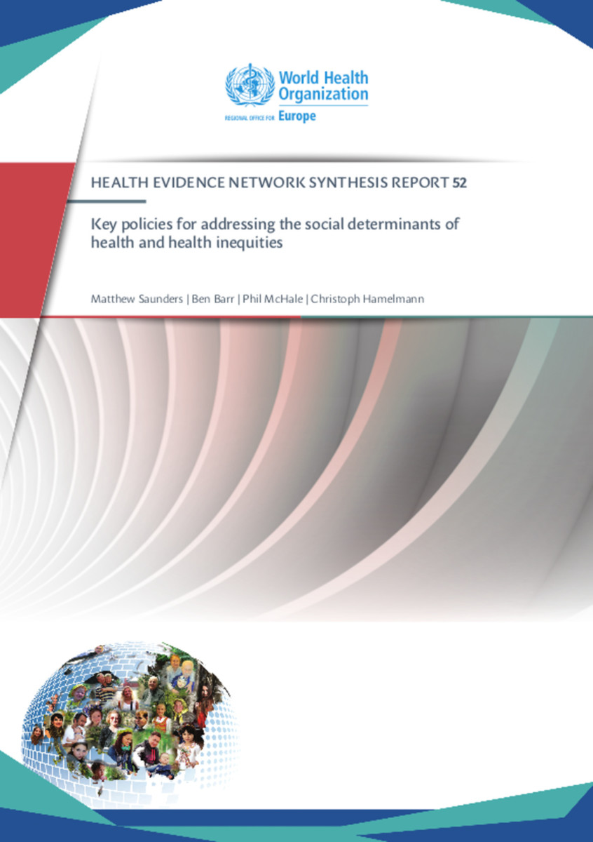 Key Policies for Addressing the Social Determinants of Health and Health Inequities