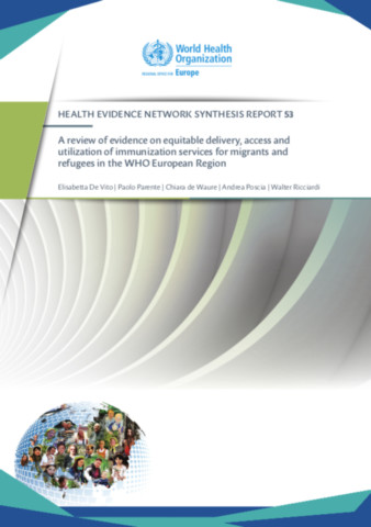 A review of evidence on equitable delivery, access and utilization of immunization services for migrants and refugees in the WHO European Region