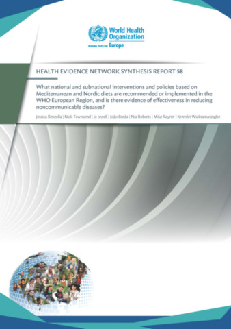 What national and subnational interventions and policies based on Mediterranean and Nordic diets are recommended or implemented in the WHO European