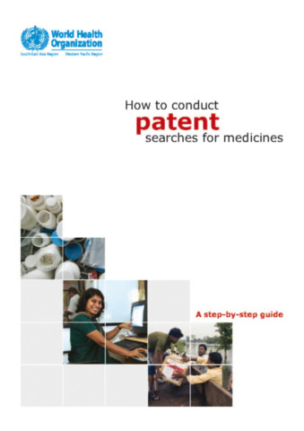 How to Conduct Patent Searches for Medicines